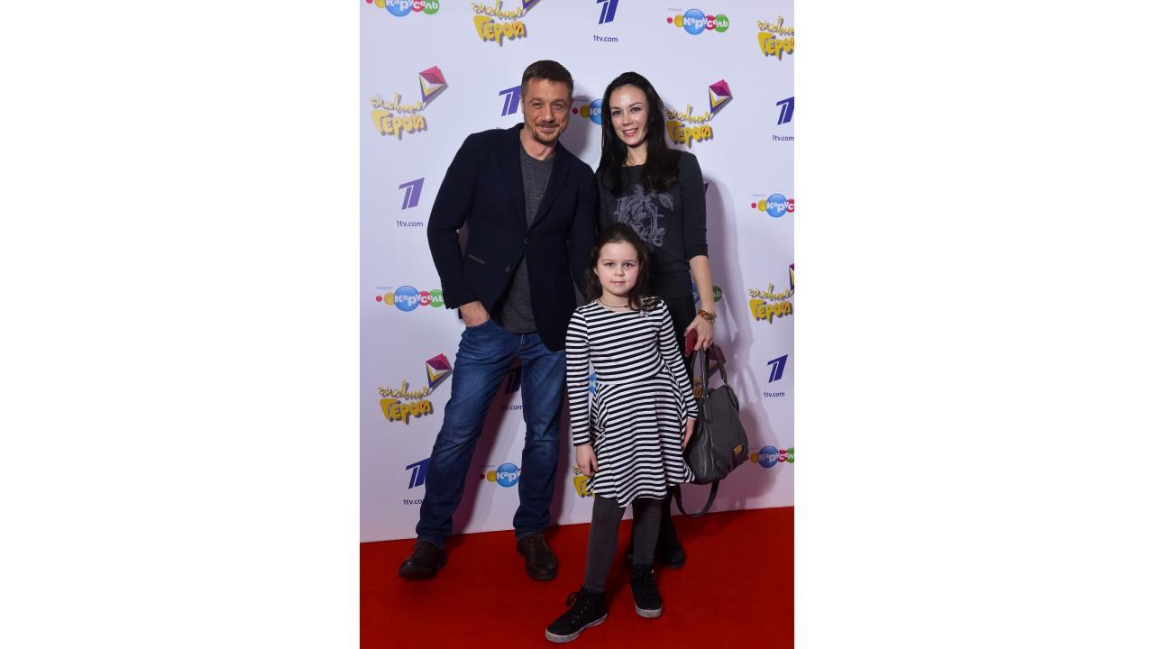 Алексей Макаров с семьей