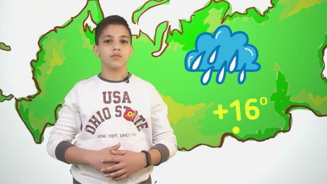 Арсен рассказывает о погоде в телестудии «О!» на фестивале «Политех»