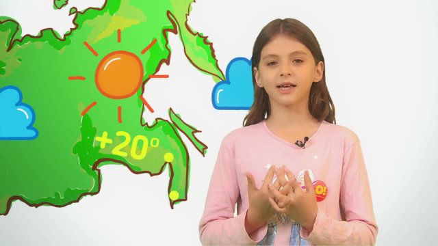Ксения рассказывает о погоде в телестудии «О!» на фестивале «Политех»
