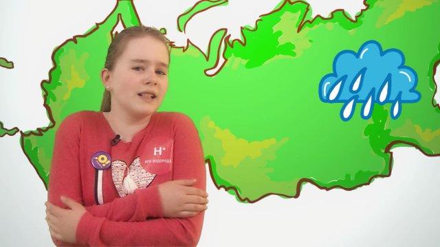 Анна рассказывает о погоде в телестудии «О!» на фестивале «Политех»