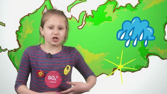 Анастасия рассказывает о погоде в телестудии «О!» на фестивале «Политех»