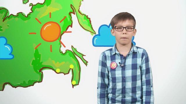 Савелий рассказывает о погоде в телестудии «О!» на фестивале «Политех»