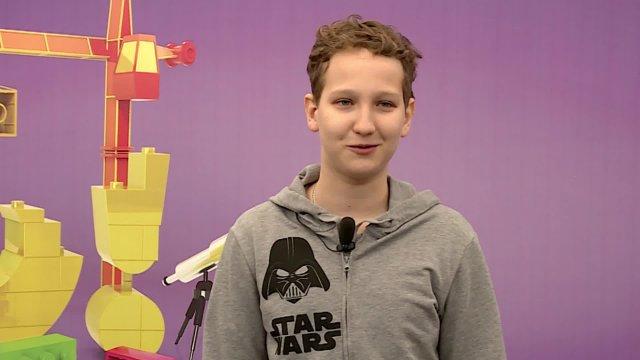 Даниил в телестудии канала «О!» в Дубне