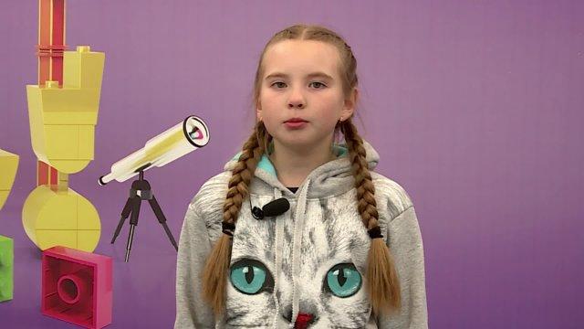 Оля в телестудии канала «О!» в Дубне