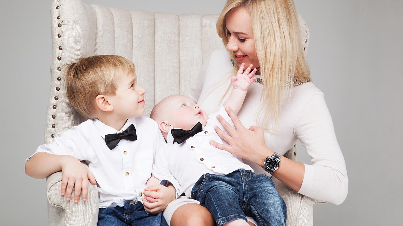 Наталия Бердинская с сыновьями: Климом и Львом