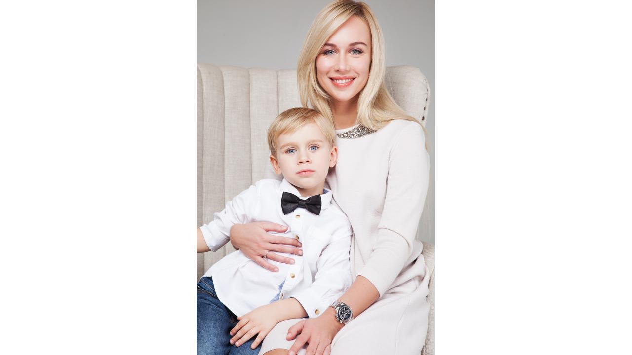 Клим с мамой