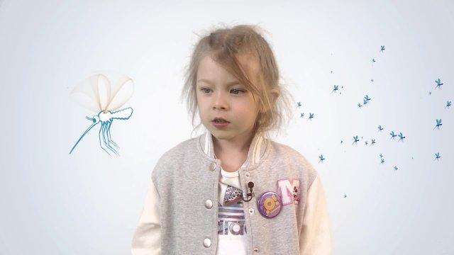 В телестудии «О!» на фестивале «Политех» Алиса рассказывает про комаров