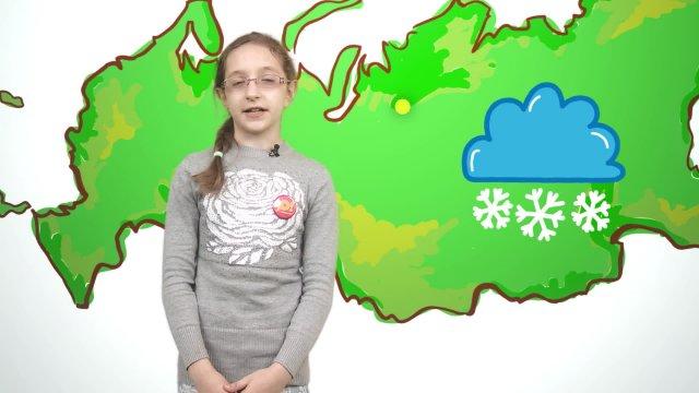 Аня рассказывает о погоде в телестудии «О!» на фестивале «Политех»