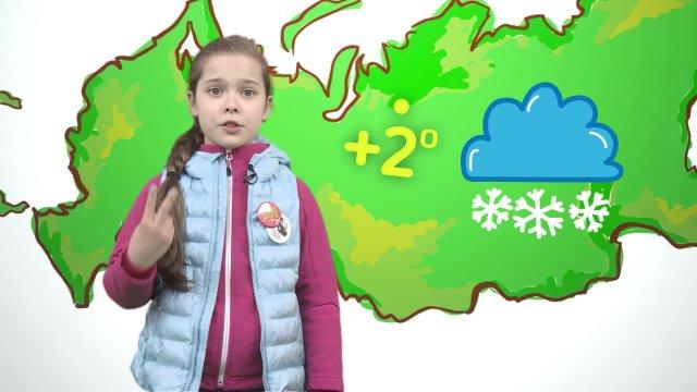 Варя рассказывает о погоде в телестудии «О!» на фестивале «Политех»