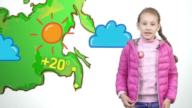 Ксюша рассказывает о погоде в телестудии «О!» на фестивале «Политех»