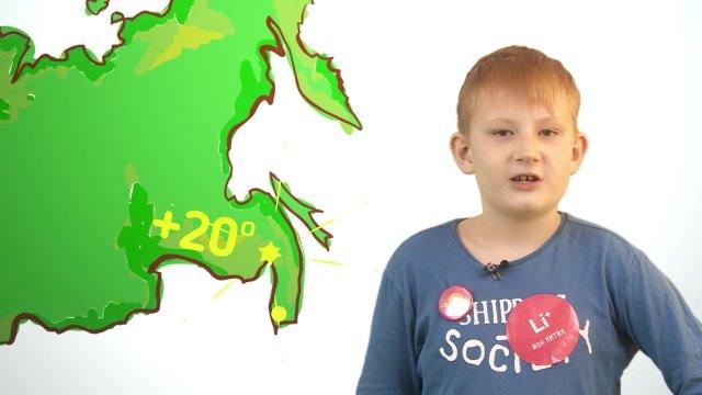 Андрей рассказывает о погоде в телестудии «О!» на фестивале «Политех»