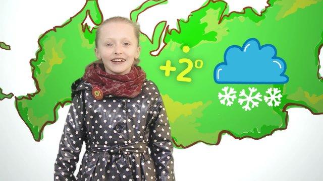 Василиса рассказывает о погоде в телестудии «О!» на фестивале «Политех»