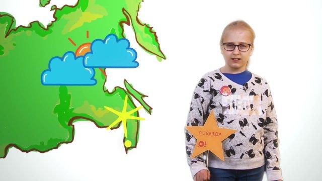 Александра рассказывает о погоде в телестудии «О!» на фестивале «Политех»
