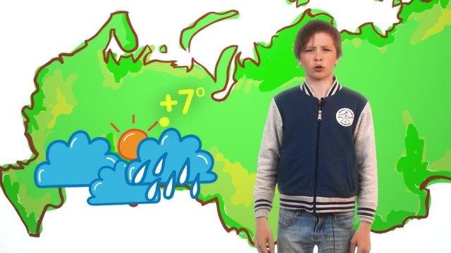 Павел рассказывает о погоде в телестудии «О!» на фестивале «Политех»
