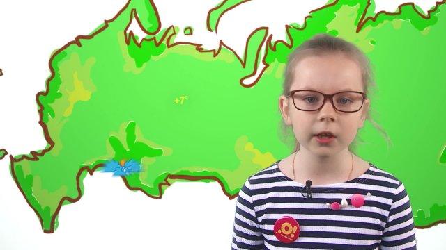 Даша рассказывает о погоде в телестудии «О!» на фестивале «Политех»