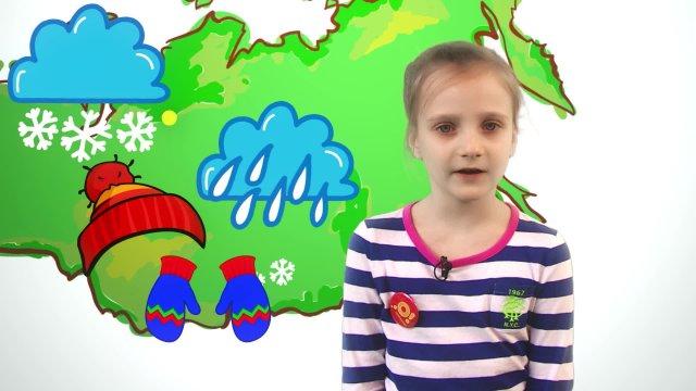 Александрина рассказывает о погоде в телестудии «О!» на фестивале «Политех»