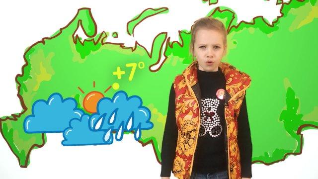 Ева рассказывает о погоде в телестудии «О!» на фестивале «Политех»