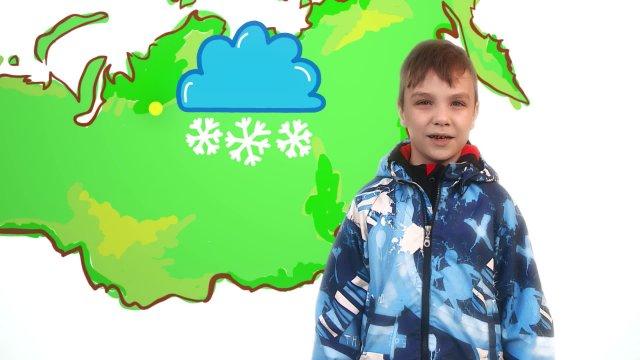 Макар рассказывает о погоде в телестудии «О!» на фестивале «Политех»
