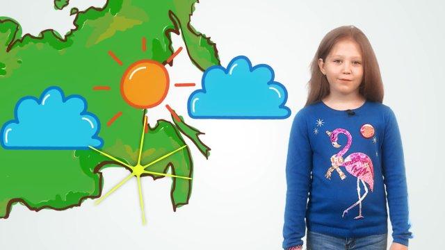 Дарья рассказывает о погоде в телестудии «О!» на фестивале «Политех»