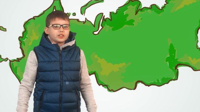 Александр рассказывает о погоде в телестудии «О!» на фестивале «Политех»