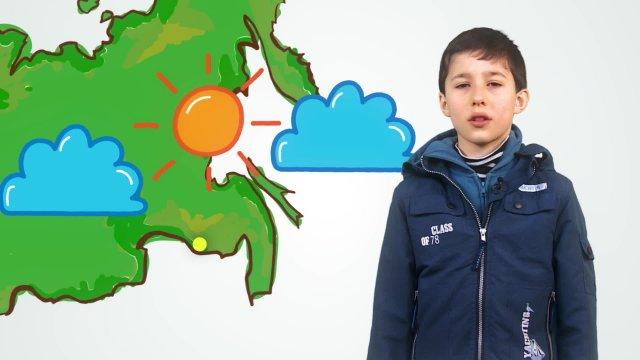 Виктор рассказывает о погоде в телестудии «О!» на фестивале «Политех»