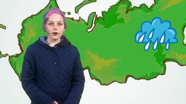 Валерия рассказывает о погоде в телестудии «О!» на фестивале «Политех»