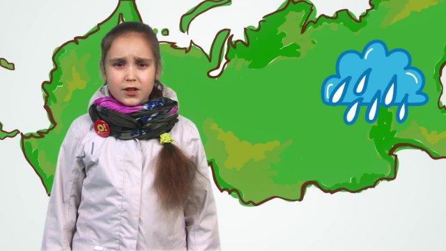 Виолетта рассказывает о погоде в телестудии «О!» на фестивале «Политех»