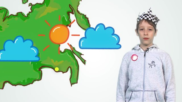 Артём рассказывает о погоде в телестудии «О!» на фестивале «Политех»