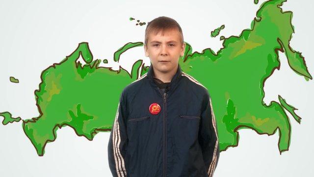 Иван рассказывает о погоде в телестудии «О!» на фестивале «Политех»