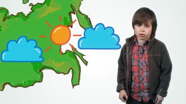 Григорий рассказывает о погоде в телестудии «О!» на фестивале «Политех»
