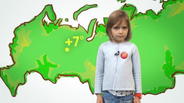 Маруся рассказывает о погоде в телестудии «О!» на фестивале «Политех»