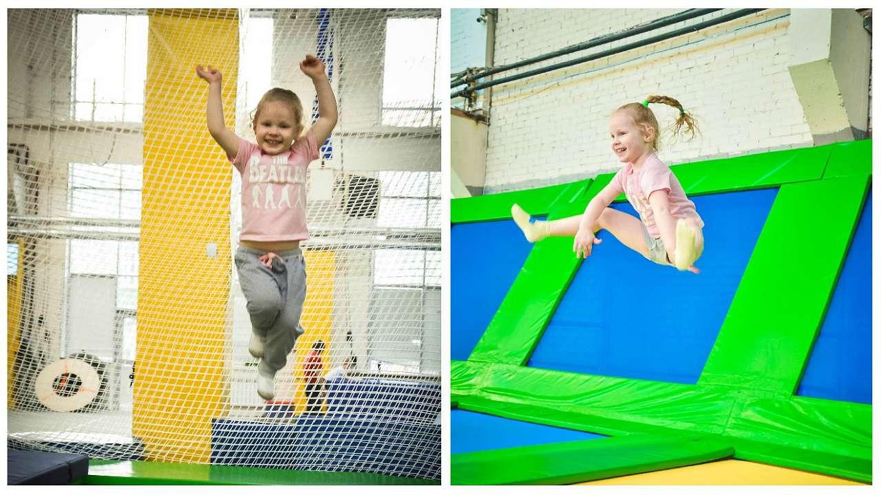 Лана на занятиях: прыгать на метр и выше — для нее привычное дело