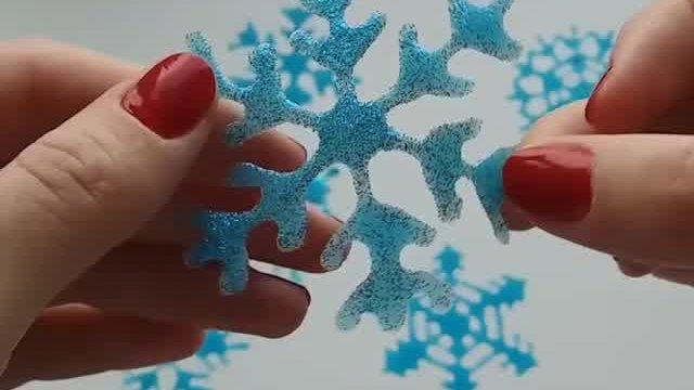 Мастер-класс: снежинки из клея