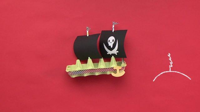 Поделки. Пиратский корабль