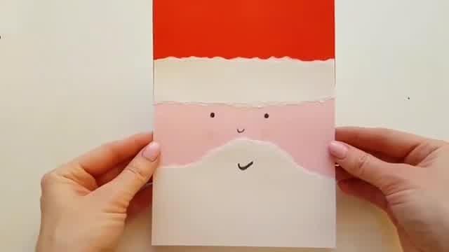 Мастер-класс: открытка с Дедом Морозом